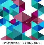 multicolored triangles abstract ... | Shutterstock .eps vector #1148325878