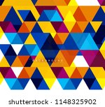 multicolored triangles abstract ... | Shutterstock .eps vector #1148325902