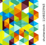 multicolored triangles abstract ... | Shutterstock .eps vector #1148325965