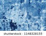 grungy cement wall in navy blue ... | Shutterstock . vector #1148328155