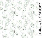 vector botanical seamless... | Shutterstock .eps vector #1148333342