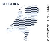 dotted map of netherlands... | Shutterstock .eps vector #1148343398