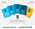 one two three four five  ... | Shutterstock .eps vector #1148345348