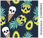 summer symbols seamless pattern.... | Shutterstock .eps vector #1148348042