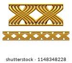 golden  ornamental segment   x... | Shutterstock . vector #1148348228