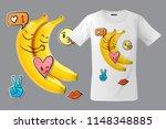modern t shirt print design... | Shutterstock .eps vector #1148348885
