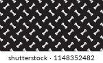 dog bone seamless pattern bone... | Shutterstock .eps vector #1148352482