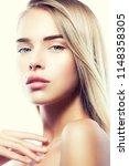 beautiful young fashion model... | Shutterstock . vector #1148358305