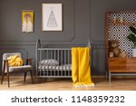 real photo of a baby room with... | Shutterstock . vector #1148359232
