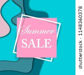 sale square banner. paper cut... | Shutterstock .eps vector #1148360378