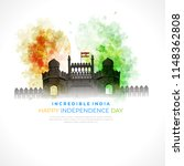 happy independence day india ... | Shutterstock .eps vector #1148362808