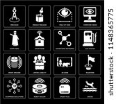 set of 16 icons such as driver  ...