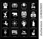 set of 16 icons such as product ...