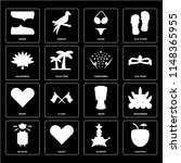 set of 16 icons such as... | Shutterstock .eps vector #1148365955