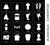set of 16 icons such as man ... | Shutterstock .eps vector #1148369102