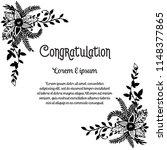 congratulation card flower... | Shutterstock .eps vector #1148377865