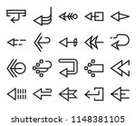 set of 20 simple editable icons ... | Shutterstock .eps vector #1148381105