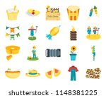 set of 20 icons such as brittle ...