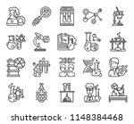 set of 20 icons such as flasks  ... | Shutterstock .eps vector #1148384468