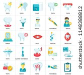 set of 25 icons such as... | Shutterstock .eps vector #1148388812