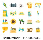 set of 20 icons such as cake ...