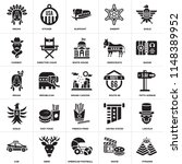 set of 25 icons such as pyramid ...