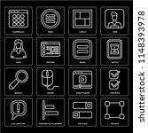 set of 16 icons such as metrize ...