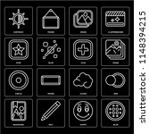 set of 16 icons such as blur ...