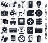 set of 25 icons such as garbage ...