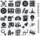 set of 25 icons such as share ...