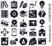 set of 25 icons such as picture ...