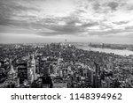 new york city sunset skyline...   Shutterstock . vector #1148394962
