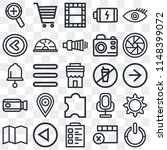 set of 25 icons such as power ...