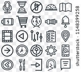 set of 25 icons such as speech...