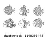 graphic fish  vector | Shutterstock .eps vector #1148399495