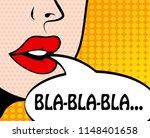 pop art retro style comic book... | Shutterstock . vector #1148401658