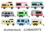flat vector set of classic... | Shutterstock .eps vector #1148405975