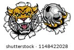 a wildcat angry animal sports... | Shutterstock .eps vector #1148422028