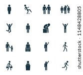 person icons set with jogging ... | Shutterstock . vector #1148428805