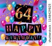 64rd anniversary celebration... | Shutterstock . vector #1148429825
