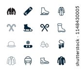winter icon. collection of 16... | Shutterstock .eps vector #1148430005