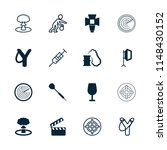 shot icon. collection of 16... | Shutterstock .eps vector #1148430152