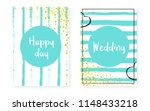 bridal shower set with dots and ... | Shutterstock .eps vector #1148433218