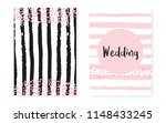 bridal shower card with dots... | Shutterstock .eps vector #1148433245