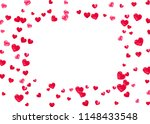 wedding confetti with pink... | Shutterstock .eps vector #1148433548