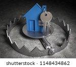 3d illustration trap real estate | Shutterstock . vector #1148434862