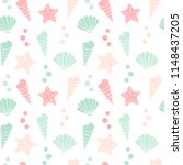 cute colorful summer seamless... | Shutterstock .eps vector #1148437205