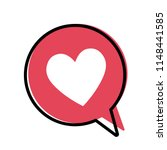 heart in a red speech bubble ... | Shutterstock .eps vector #1148441585
