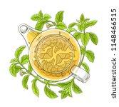 stevia tea illustration | Shutterstock .eps vector #1148466515