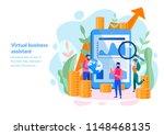 vector illustration of virtual... | Shutterstock .eps vector #1148468135